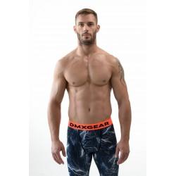 DMXGEAR Men's elastic compression leggins dark blue PRO COMBAT Tights Flash