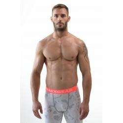 DMXGEAR Lange Männerstrumpfhosen Weiß Kompression PRO COMBAT TIGHTS