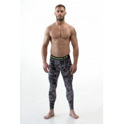 DMXGEAR Men's elastic compression leggins black/grey PRO COMBAT Tights Black