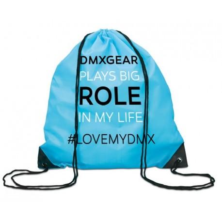 DMXGEAR batoh tyrkysový na záda DMXGEAR plays a big role in my life