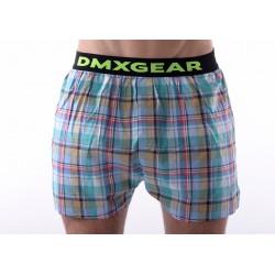 DMXGEAR luxusní pánské volné trenýrky Green Tartan