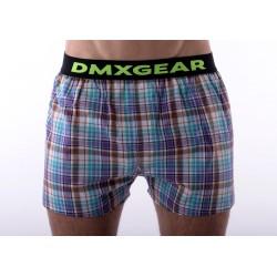 DMXGEAR luxusní pánské volné trenýrky Violet GreenTartan