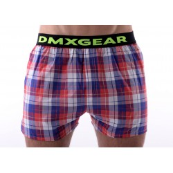 DMXGEAR luxury men's trunks Exclusive Red Blue Tartan
