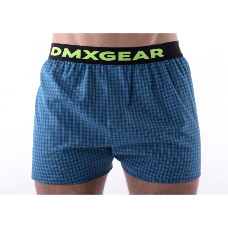 DMXGEAR luxusní pánské volné trenýrky Blue Tartan