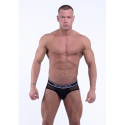 DMXGEAR pánské oranžové sportovní slipy Anatomically Fit Sport Brief