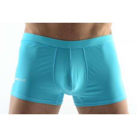 DMXGEAR men's swim boxer shorts turquoise Sun & Fun