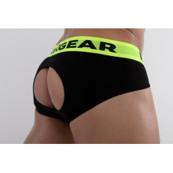 DMXGEAR Les slips fesses nues en coton de luxe noirs Anatomically Fit Briefs