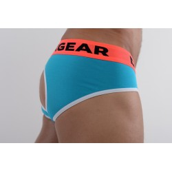 DMXGEAR luxury cotton turquoise men's backless brief Anatomically Fit Brief