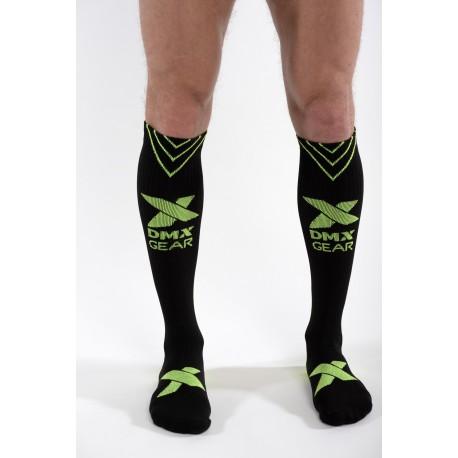 DMXGEAR sporty men's black compression knee socks