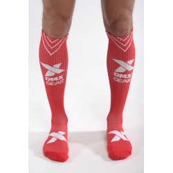 DMXGEAR sporty men's red compression knee socks