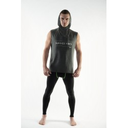 DMXGEAR Sleeveless Hoodie T-shirt Summer Vibes PURE SPORT grey