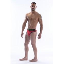 DMXGEAR luxury cotton red men's thong Anatomically Fit Thong