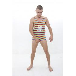 DMXGEAR Débardeur au néon Homme Sportif Color World PURE SPORT