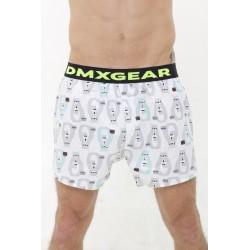 DMXGEAR Luxus Top Männer Boxer Shorts Weiss mit Bären Tartan
