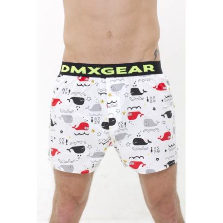 Les shorts DMXGEAR comfortable du luxe avec le motif des baleines