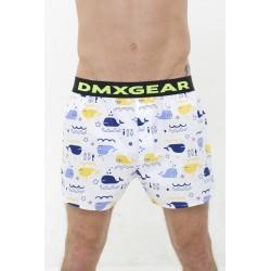 Les shorts DMXGEAR comfortable du luxe avec le motif des baleines bleues