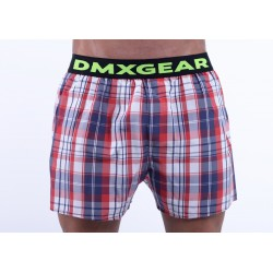 DMXGEAR luxury men's trunks Exclusive Red White Blue Tartan