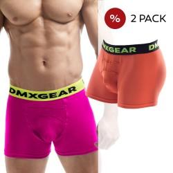 2 Pack Boxers DMXGEAR en coton de luxe Anatomically Fit Boxers