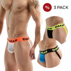 3 Pack Suspensoirs DMXGEAR en coton de luxe Anatomically Fit