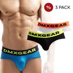 3 Pack DMXGEAR Slips en coton de luxe Anatomically Fit Briefs