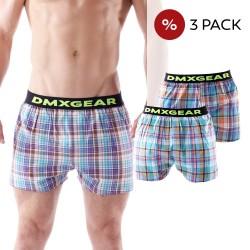 3 Pack DMXGEAR luxury men's loose trunks Tartan