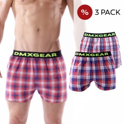 3 Pack DMXGEAR luxury men's loose trunks Tartan