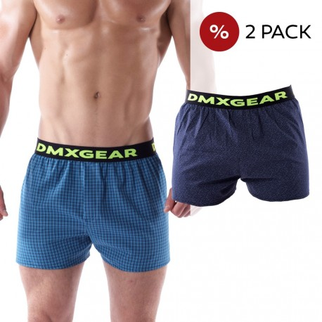 2 Pack DMXGEAR luxury men's loose trunks Tartan
