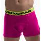 DMXGEAR pánské luxusní růžové boxerky Anatomically Fit Boxer se žlutou gumou v pase