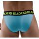 DMXGEAR pánské děrované modré sportovní slipy Hole Net Brief