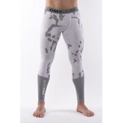 Leggings de compression DMXGEAR PRO ATHLETE Multicolore Gris/Blancs