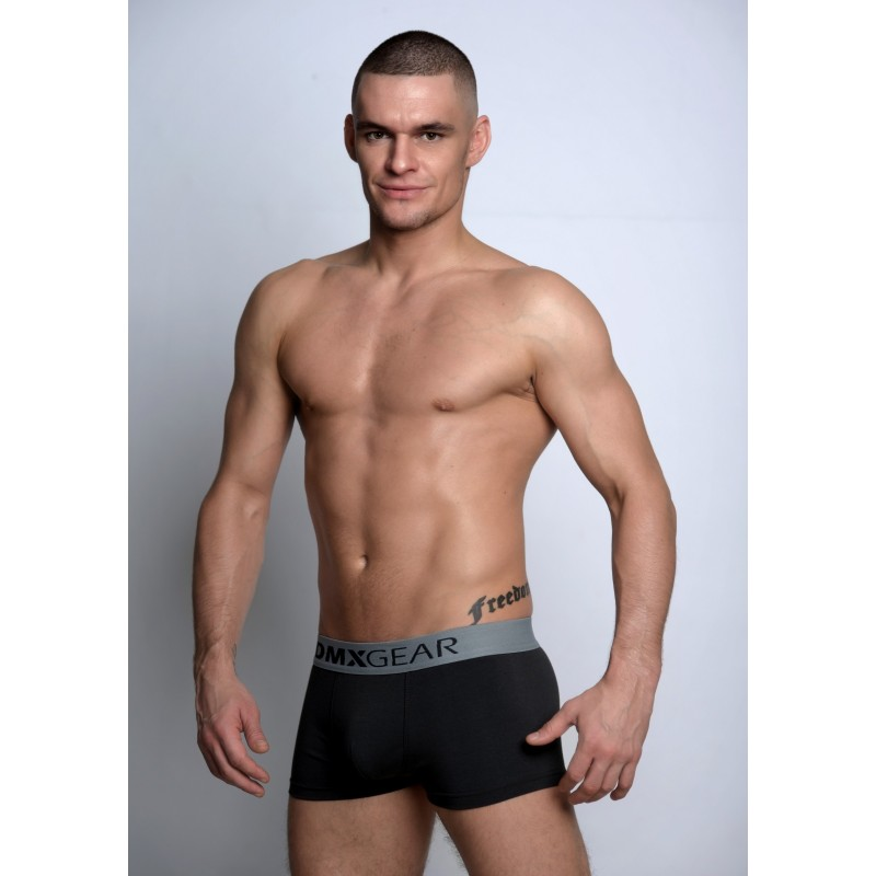 efdff0762ec4ba ... DMXGEAR luxury cotton grey men's boxer brief with short legs Essential  Boxer