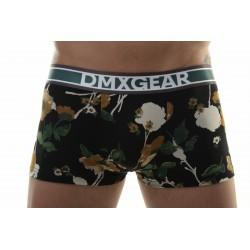 DMXGEAR Boxer-Shorts Schwarz-Orange mit kurzem Höschen aus der Kollektion Flora Boxers