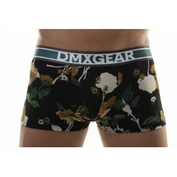 DMXGEAR luxury black-orange men's boxer brief with short legs Flora Boxer