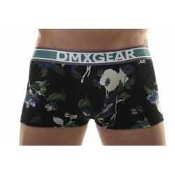 DMXGEAR Boxer-Shorts Schwarz-Blau mit kurzem Höschen aus der Kollektion Flora Boxers